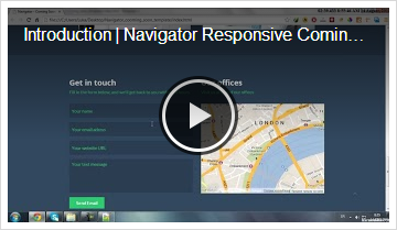 Navigator | Responsive Coming Soon Template